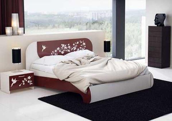 Красивые двуспальные кровати 11